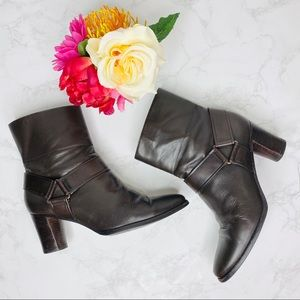 Cole Haan Brown Valerie Leather Ankle Booties Nike